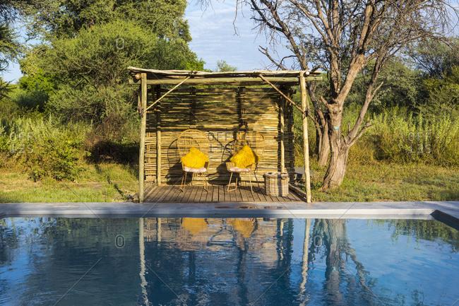 A swimming pool in a safari camp