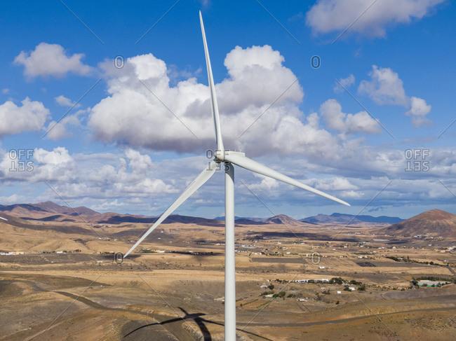 Modern windmill farm, Fuerteventura, Canary Islands, Spain, Atlantic, Europe