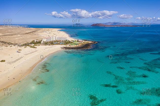 Parque Natural de Corralejo, beach and resort near Corralejo, Fuerteventura, Canary Islands, Spain, Atlantic, Europe