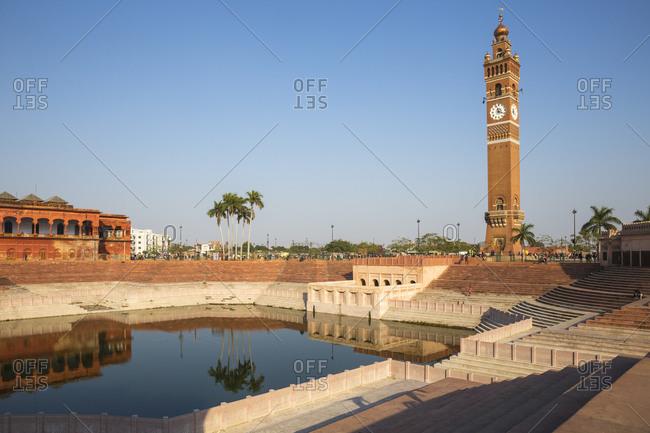 Hussainabad pond and Clock Tower, Lucknow, Uttar Pradesh, India, Asia