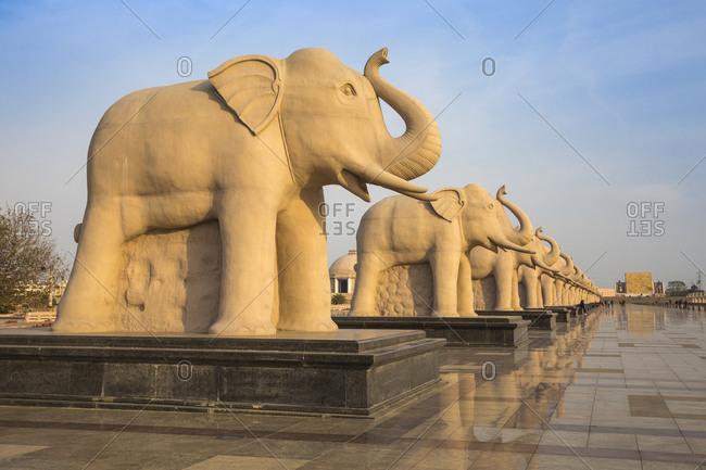 February 10, 2019: Dr. Ambedkar Park, Lucknow, Uttar Pradesh, India, Asia