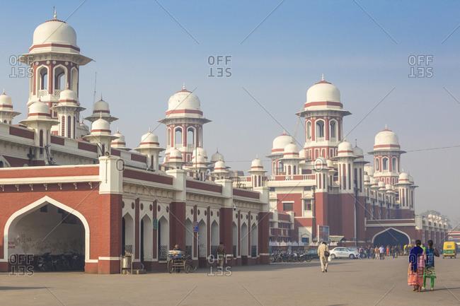 February 13, 2019: Railway station, Lucknow, Uttar Pradesh, India, Asia