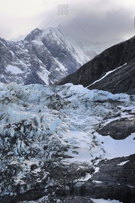 Drygalski Fjord, Glacier and moraine, South Georgia, South Georgia and the Sandwich Islands, Antarctica, Polar Regions