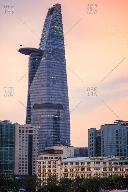 January 20, 2019: The Bitexco Tower and surrounding buildings in District One of Ho Chi Minh City (Saigon), Vietnam, Indochina, Southeast Asia, Asia