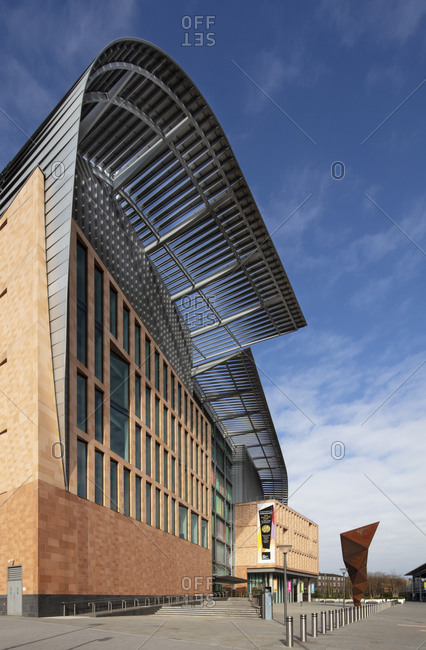 April 1, 2020: Exterior of the Francis Crick Institute, one of the largest medical research centers in Europe, Kings Cross, London, England, United Kingdom, Europe