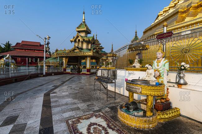 January 13, 2020: Shwe Taung Sar Pagoda, Payagyi, Dawei, Mon state, Myanmar (Burma), Asia