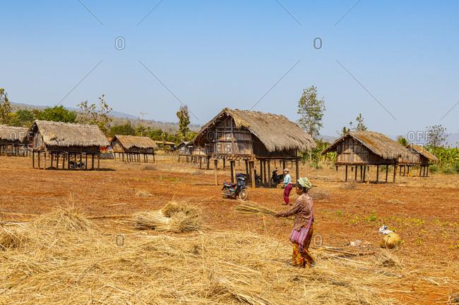 February 11, 2020: Kayah village, Loikaw area, Kayah state, Myanmar (Burma), Asia