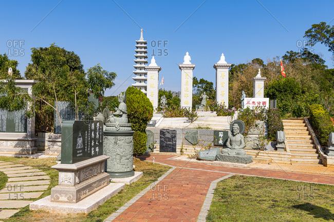 December 14, 2019: Modern Buddha Park, Kinmen island, Taiwan, Asia