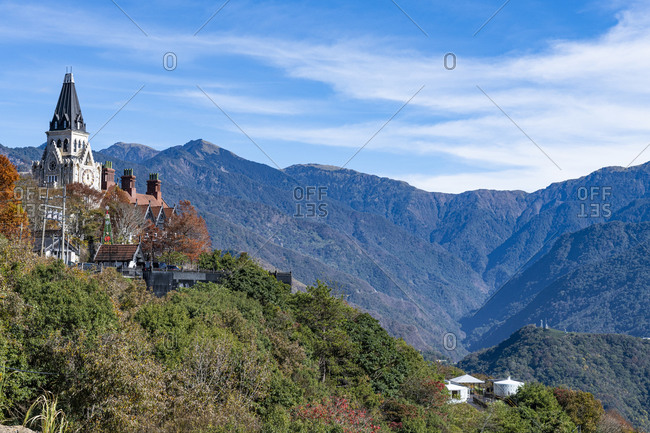 December 17, 2019: Old England traditional hotel, in the mountains of Nantou County, Renai township, Taiwan, Asia