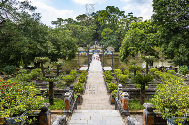 December 27, 2019: Minh Mang Tomb, Hue, UNESCO World Heritage Site, Vietnam, Indochina, Southeast Asia, Asia