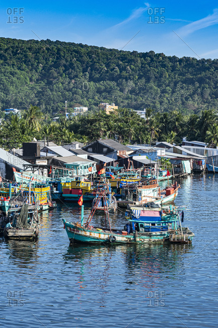 Fishing boat in the Duong Dong Fishing Harbour, island of Phu Quoc, Vietnam, Indochina, Southeast Asia, Asia