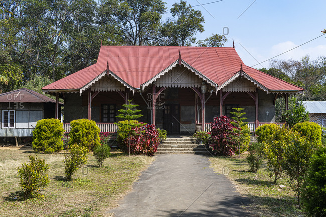 February 16, 2020: Lungleng Chieftain, Heritage Home, Lungleng, Mizoram, India, Asia