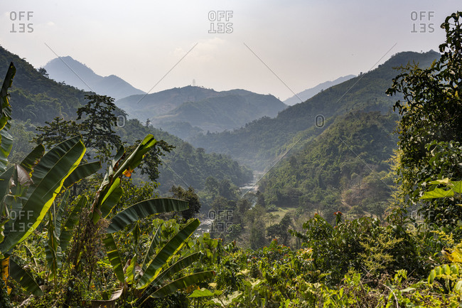 Mountain scenery in the remote areas of Manipur, India, Asia