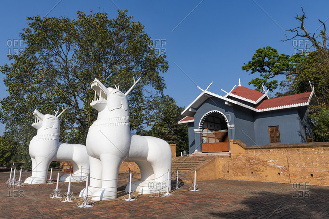Site of the two Kangla Sha, Kangla Palace, Imphal, Manipur, India, Asia