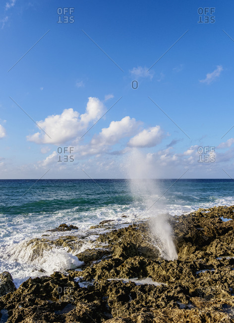The Blowholes, East End, Grand Cayman, Cayman Islands, Caribbean, Central America