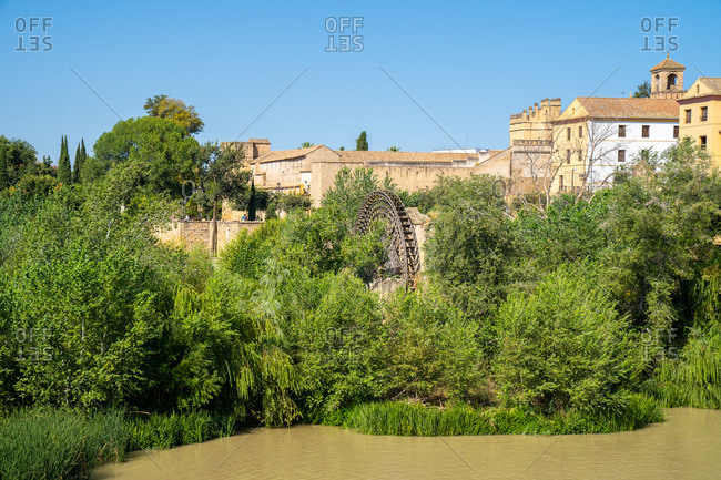 Molino de la Albolafia, one of the Guadalquivir River watermills, Cordoba, Andalusia, Spain, Europe