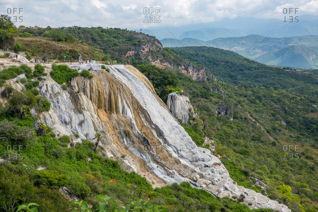 Hierve el Agua petrified waterfall in Oaxaca, Mexico, North America