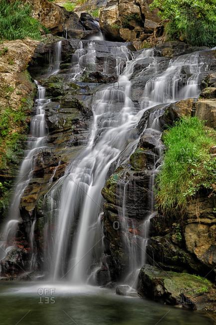 Sri Lanka- Uva Province- Ella- Long exposure ofRavana Falls
