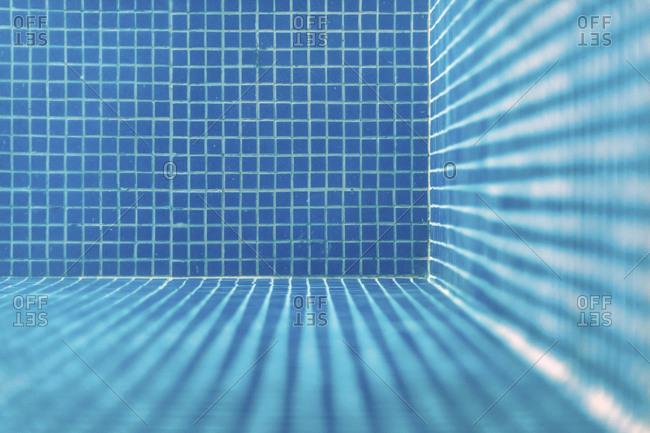 Blue swimming pool mosaic tile