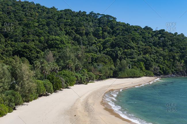 Sandy beach and forest Beach and lighthouse- Mu Ko Lanta National Park- Koh Lanta- Thailand
