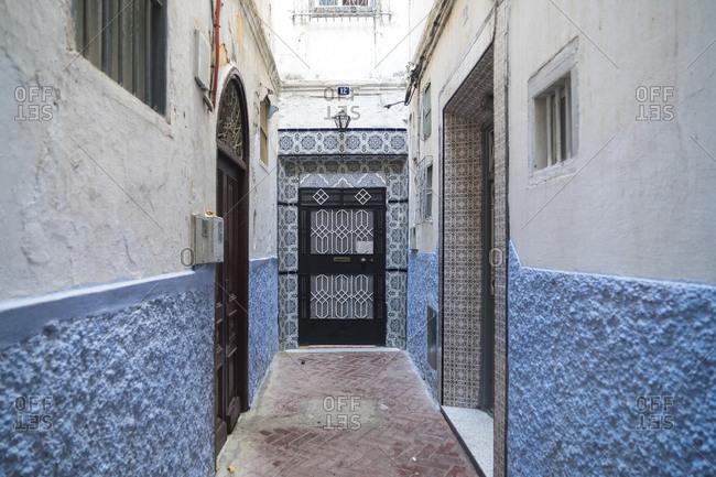 Morocco- Tanger-Tetouan-Al Hoceima- Tangier- Alley in historic medina