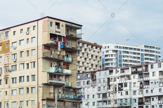 Georgia- Adjara- Batumi- Old residential building