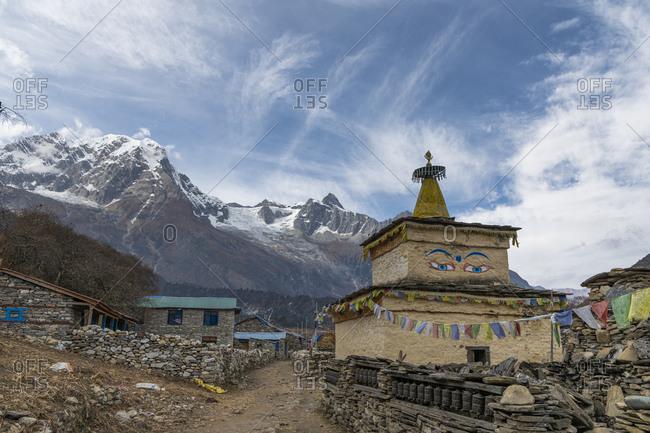 Stupa at Samagaon in Nepal