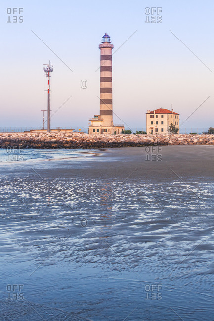 Jesolo, lighthouse beach, adriatic sea, Venice, veneto, italy