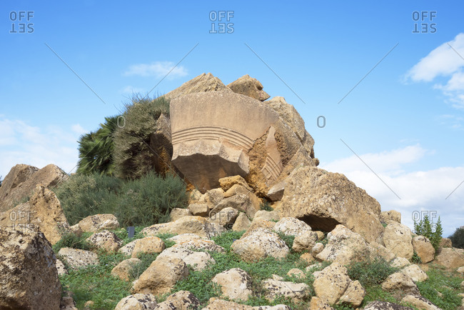 Temple of Zeus, Valley of the Temples, Agrigento, Sicily, Italy