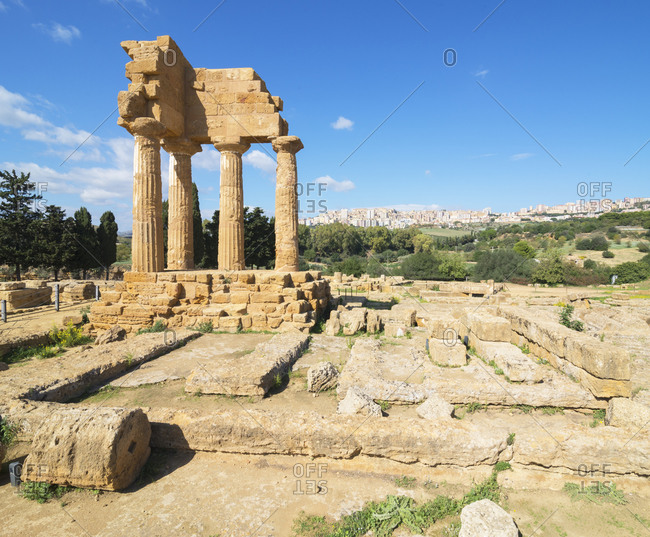 Temple of Castor, Valley of the Temples, Agrigento, Sicily, Italy