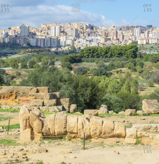 Atlas Statue, Valley of the Temples, Agrigento, Sicily, Italy