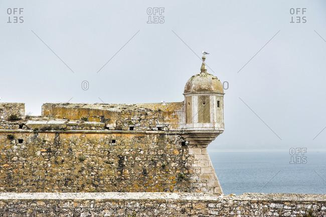 Europe, Portugal, Centro Region, Leiria District, Peniche, Fortaleza de Peniche, wall tower