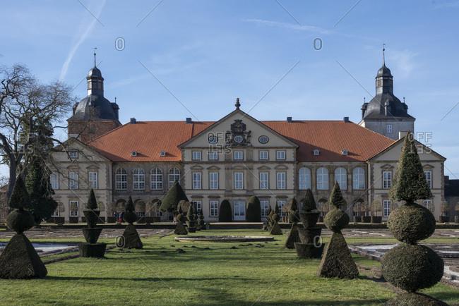 February 15, 2020: Germany, Saxony-Anhalt, Hundisburg, Hundisburg Castle