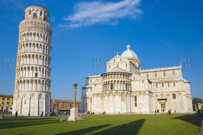 April 21, 2014: Italy, Tuscany, Pisa, Leaning Tower of Pisa, Pisa Cathedral, Cathedral Square