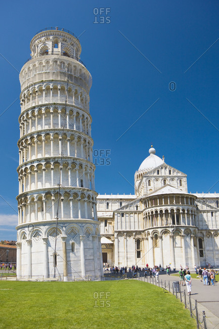 April 21, 2014: Italy, Tuscany, Pisa, Leaning Tower, Pisa Cathedral, Cathedral Square