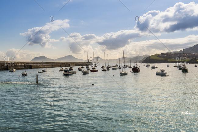 Spain, Cantabria, Castro-Urdiales, medieval port city, marina