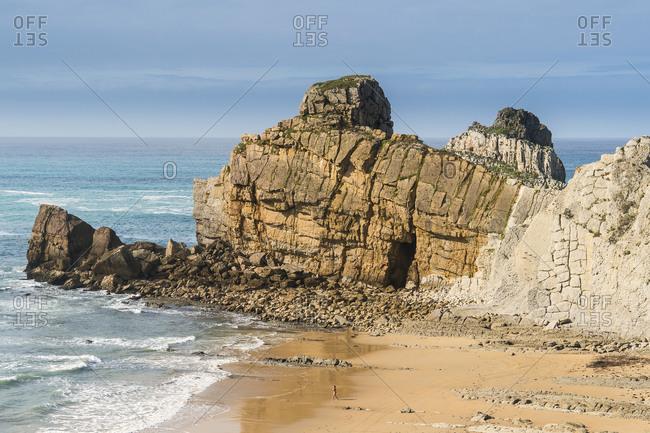 Spain, north coast, Cantabria, Costa Quebrada, Geopark, Playa el Portio