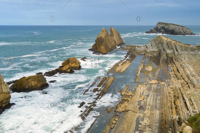 Spain, north coast, Cantabria, Costa Quebrada, Geopark