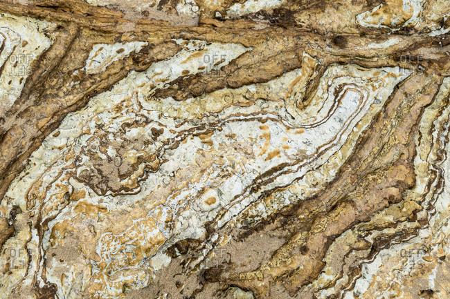 Spain, north coast, Cantabria, Canallave, Parque Natural de Las Dunas de Liencres, sediment layers