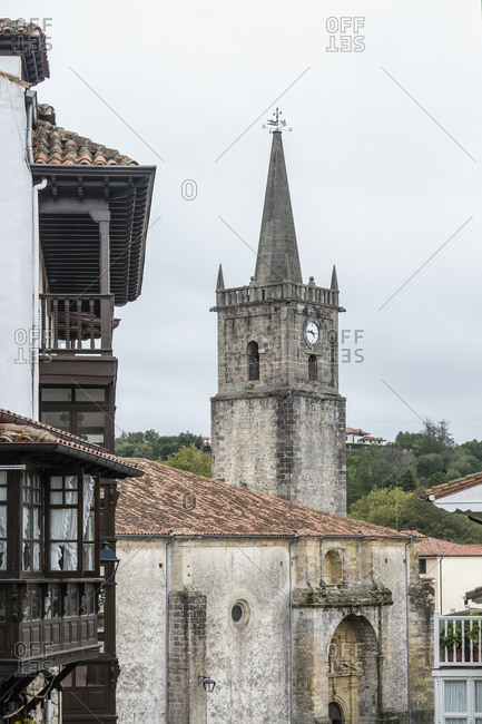 Spain, north coast, Cantabria, Comillas, Iglesia San Cristobal