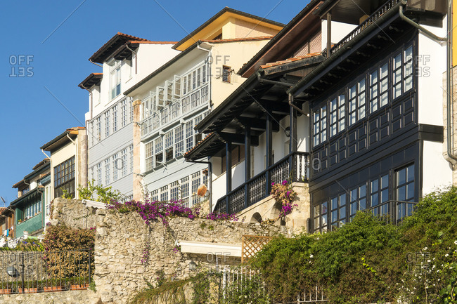 Spain, Asturias, Llanes, historic old town