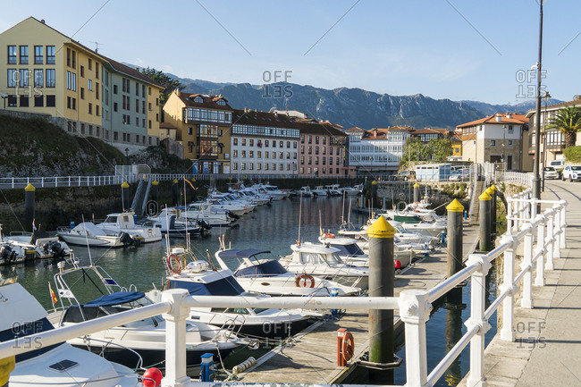 October 8, 2019: Spain, Asturias, Llanes, port