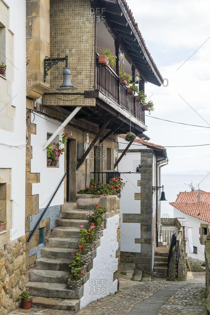 Spain, north coast, Asturias, Lastres, picturesque fishing village