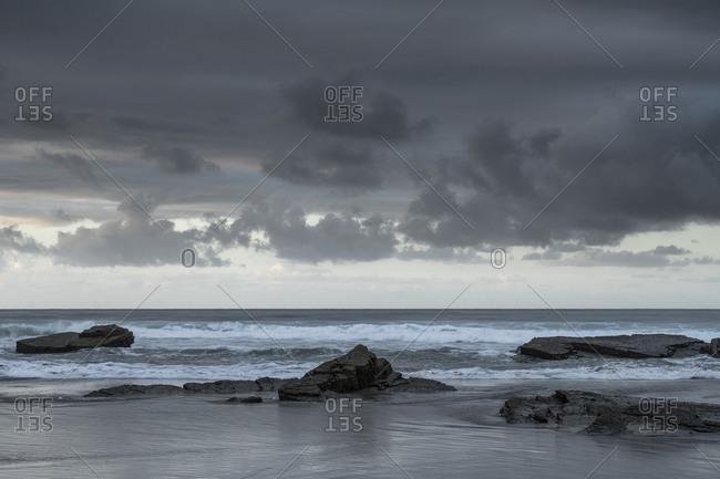 Spain, north coast, Galicia, national park, cathedral beach, Praia as Catedrais, Playa de las Catedrales, natural monument