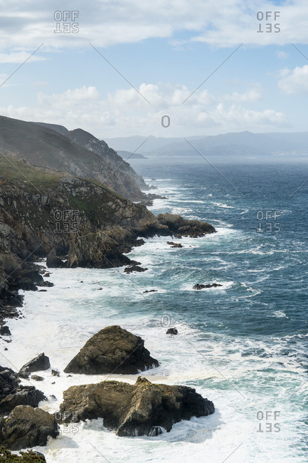 Spain, north coast, Galicia, Punta de Estaca de Bares, northernmost point of the Iberian Peninsula