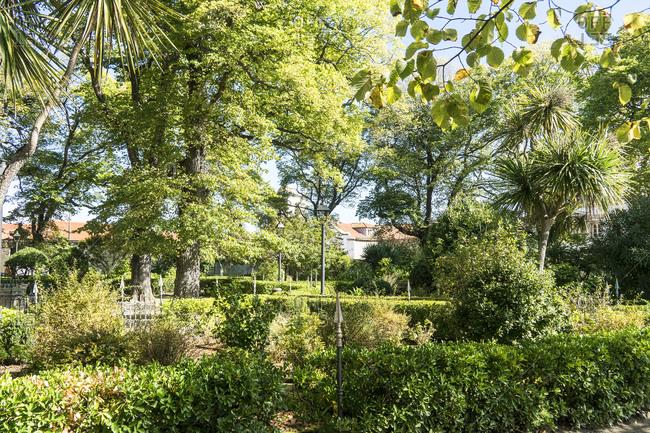 Spain, north coast, Galicia, A Coruna, La Coruna, Jardin de San Carlos, garden