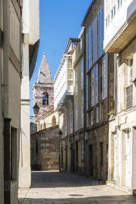 Spain, north coast, Galicia, A Coruna, La Coruna, historic old town