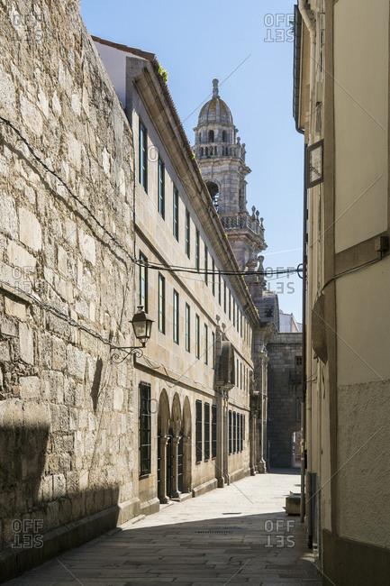 Spain, north coast, Galicia, A Coruna, La Coruna, historic old town, Convento y Plaza de las Barbaras