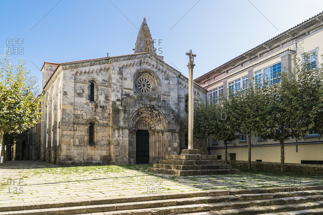 Spain, north coast, Galicia, A Coruna, La Coruna, historic old town, Colexiata Santa Maria de Campo