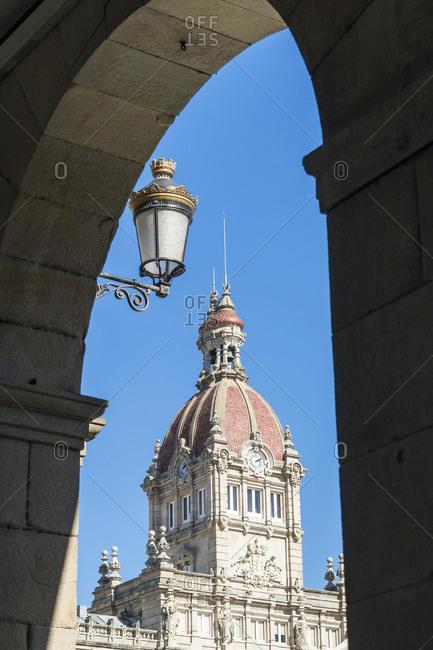 Spain, north coast, Galicia, A Coruna, La Coruna, town hall, Casa do Concello